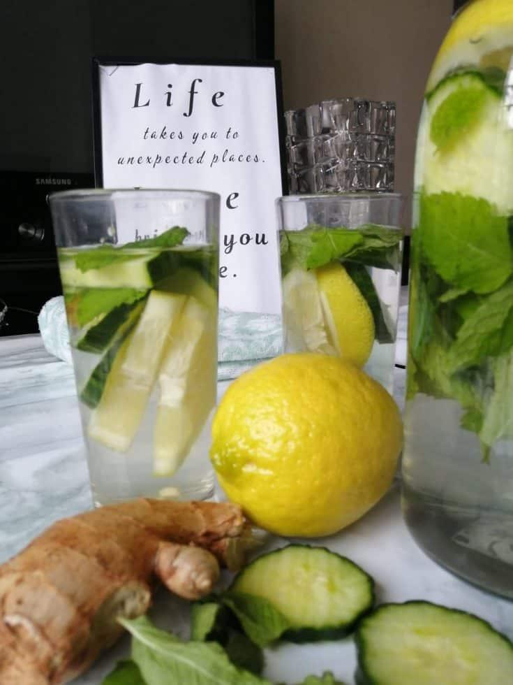 Cucumber ginger water