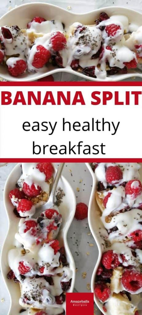 breakfast banana split frozen yogurt