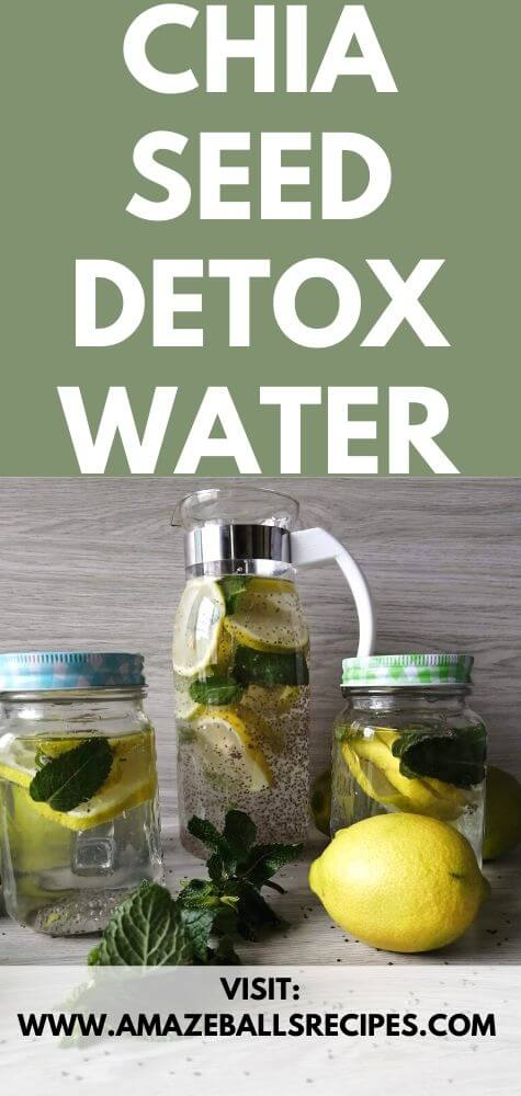 Chia seed detox water. Chai seed weight loss drink