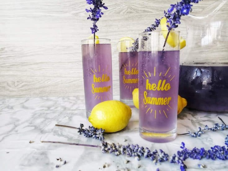 Healthy lavender lemonade recipe
