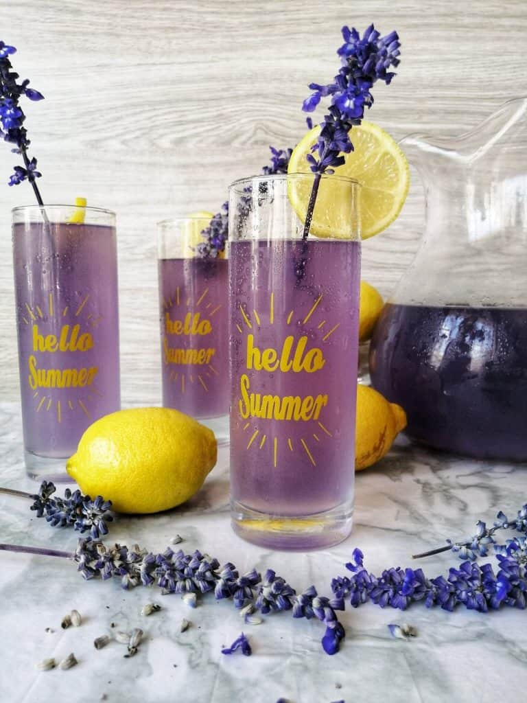 Healthy lemonade recipe - Lavender lemonade