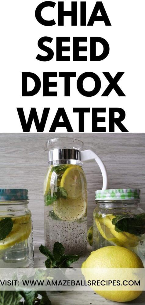 healthy Chia seed detox water. Chai seed weight loss drink
