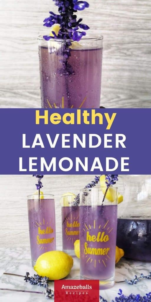 homemade lavender lemonade with honey