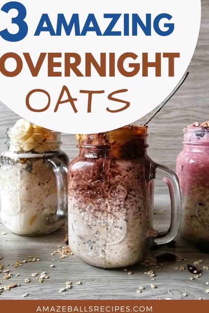 overnight oats with chia seeds and yogurt