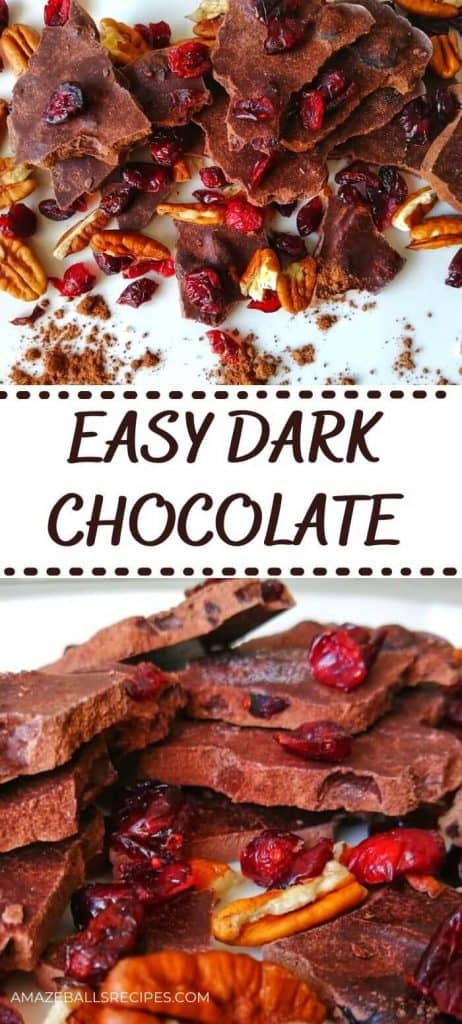 homemade dark chocolate with cocoa butter