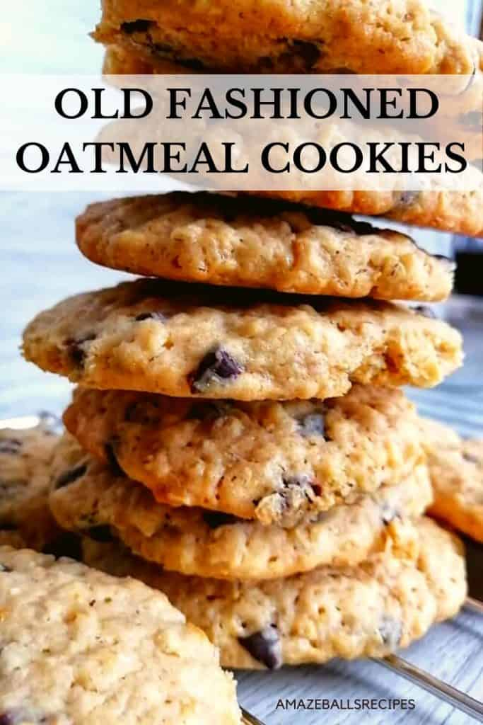 Grandma's old fashioned oatmeal cookies