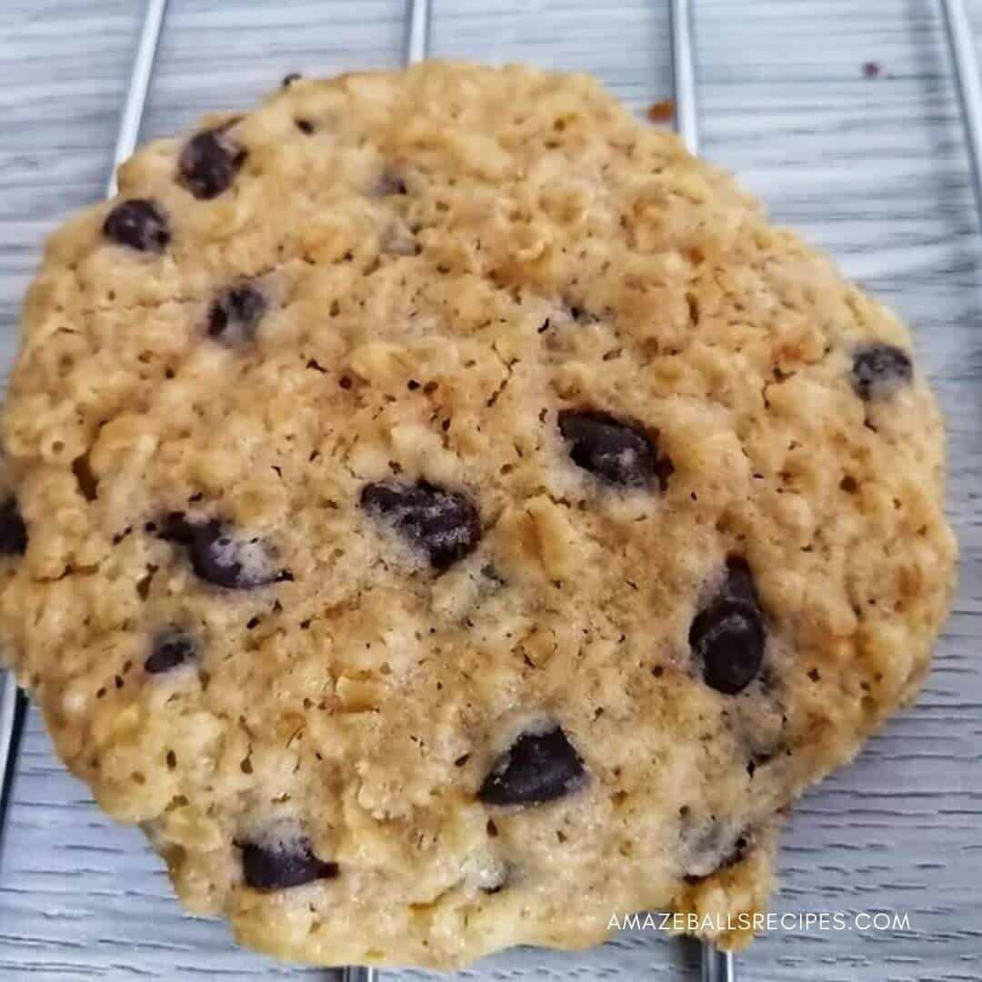 Healthy old fashioned oatmeal cookies with raisins